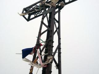 La grande croce di vetta del Monviso