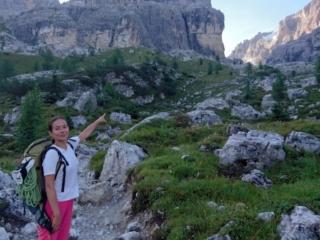 lungo il sentiero che da Vallesinella arriva al Tuckett: eccolo la il Castelletto Inferiore!