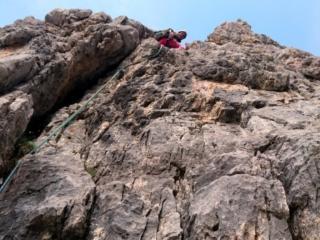 superato il passaggio di prima la scalata diventa semplice, max II