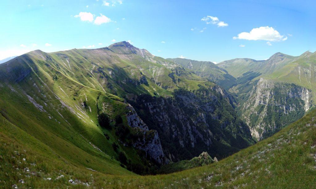 vista spettacolare dal Monte Sibilla
