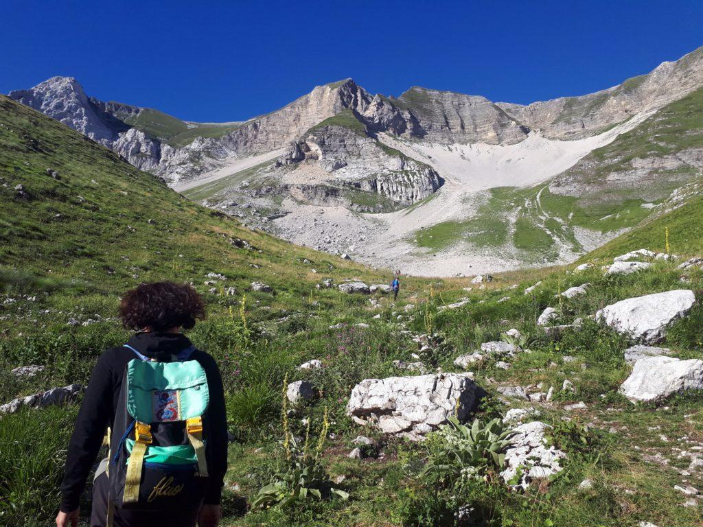la parte alta della valle ai piedi del Monte Vettore