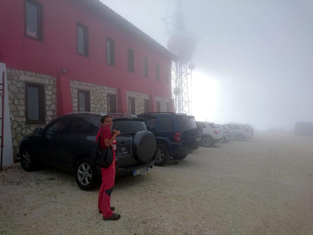 e infatti... tempo di arrivare al Pomilio e comincerà a piovere! siamo stati bravi, giusto in tempo!