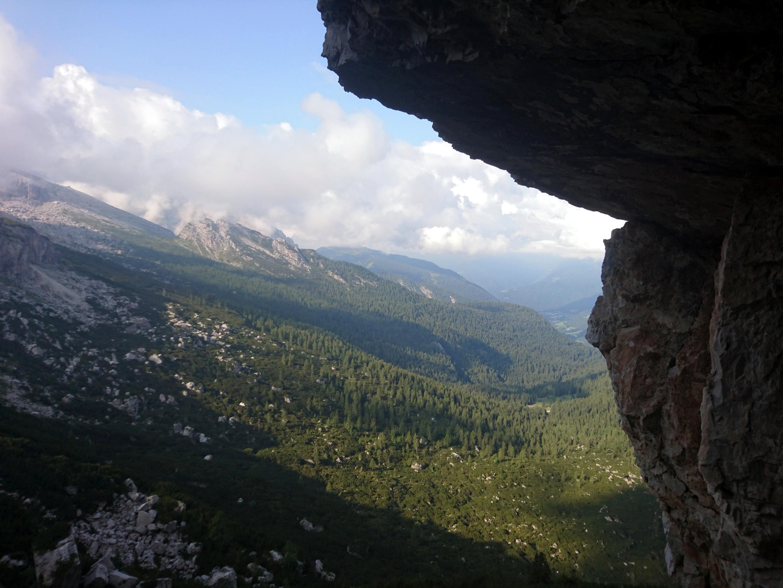 Vista della Vallesinella dall'attacco della nostra via