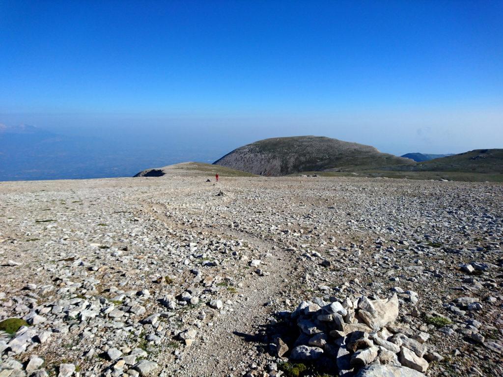 ultimo tratto di salita sulle pendici del Monte Amaro