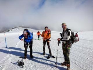 Oggi insieme a noi ci sono diversi membri del Servizio Glaciologico Lombardo in gita di piacere