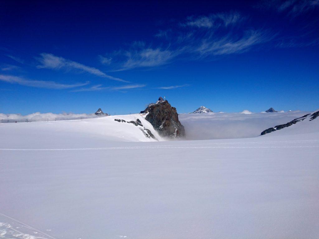 il Piccolo Cervino visto dal ghiacciaio del Breithorn