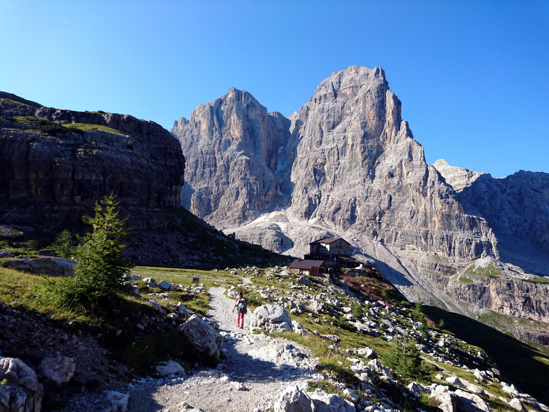 Siamo ormai in vista del rifugio Brentei nel suo bellissimo contesto
