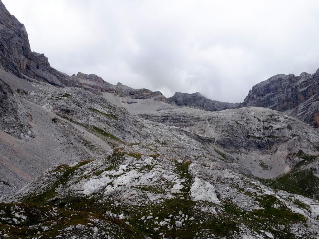 vista verso il passo del Vallon a cui però mancano ancora diversi metri di dislivello