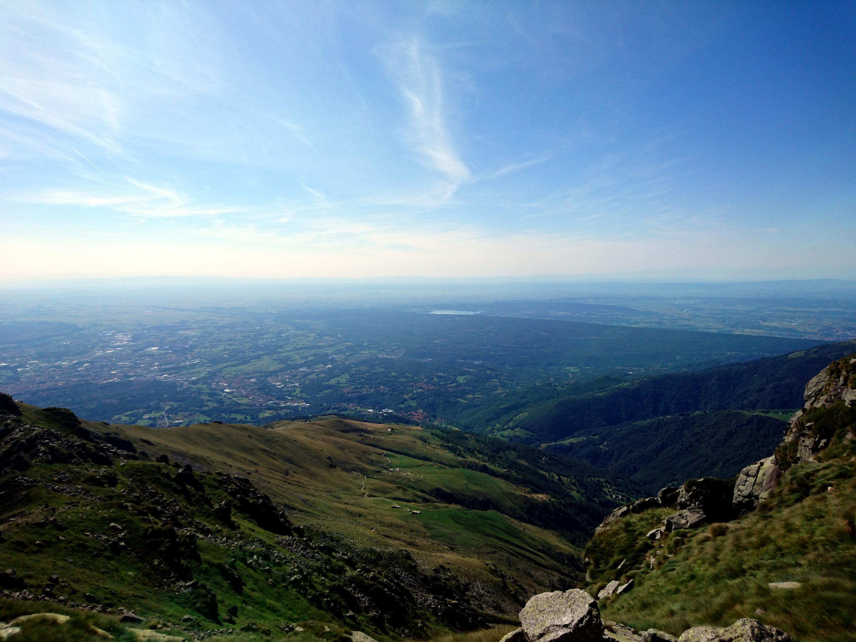 altro sguardo verso valle: una giornata così è davvero rara da queste parti