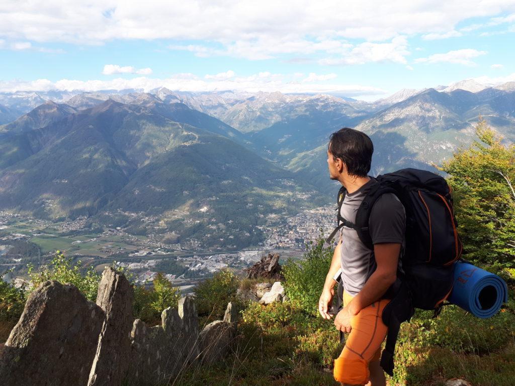 primo punto panoramico con vista su Domodossola e le sue montagne
