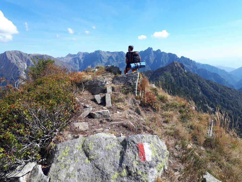 cresta del Mottac e cima Pedum sullo sfondo