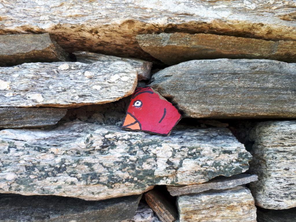 rocce colorate tra le mura di pietra del bivacco (1 di 3)