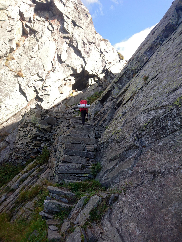 i primi gradini della scala del Ragozzale