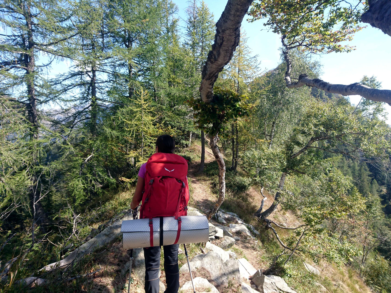 la parte centrale della cresta che conduce all'Alpe Mottac