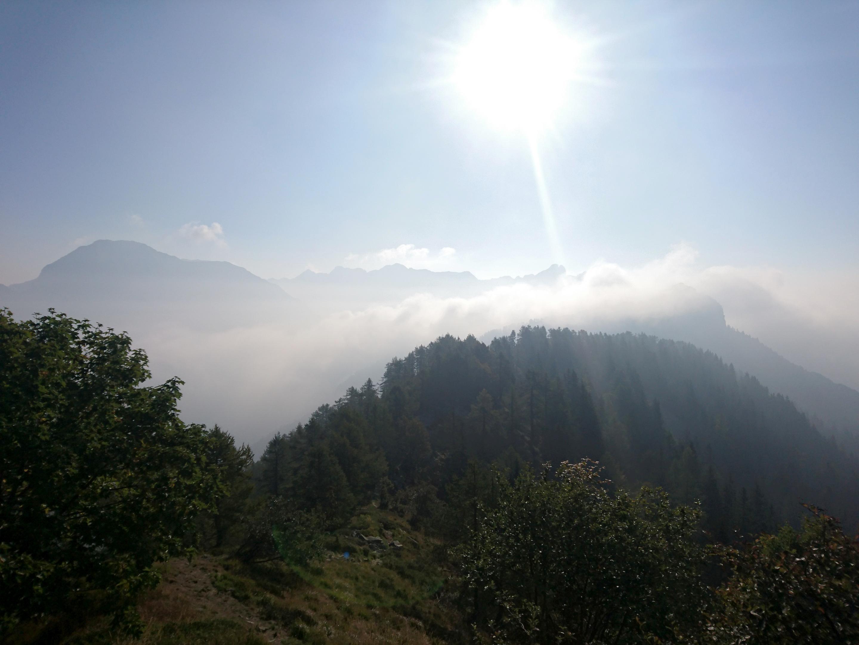 ripercorriamo tutta la cresta fatta il giorno precedente per poi svoltare a destra verso Basagrana
