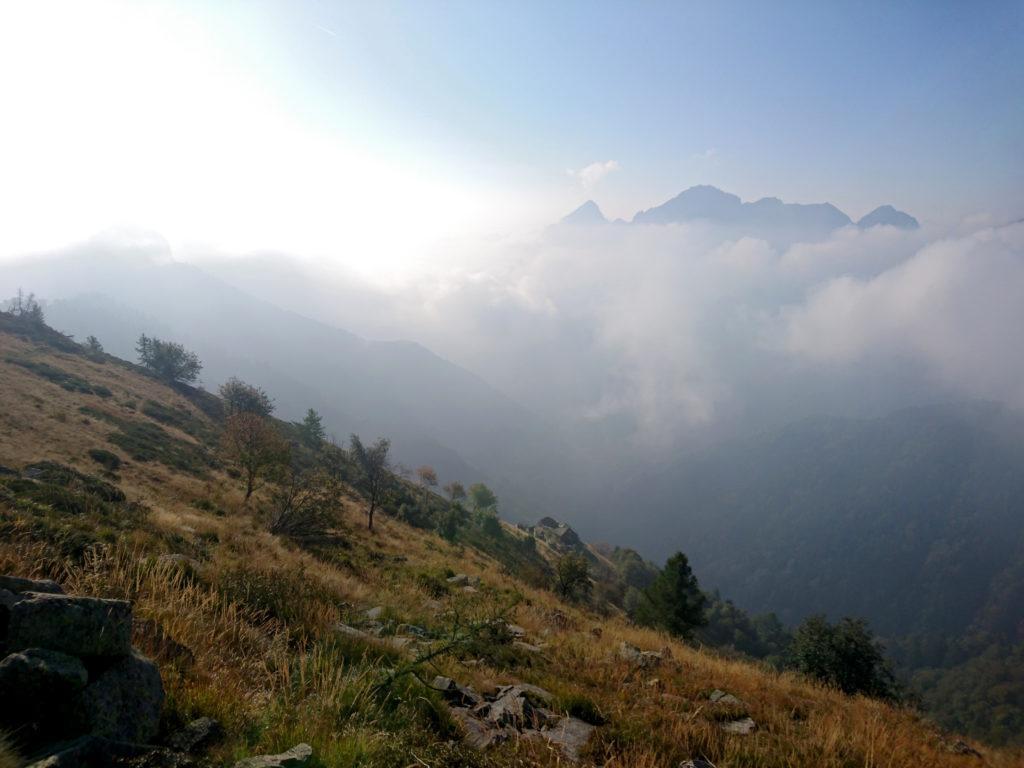 le belle nubi in formazione soto di noi