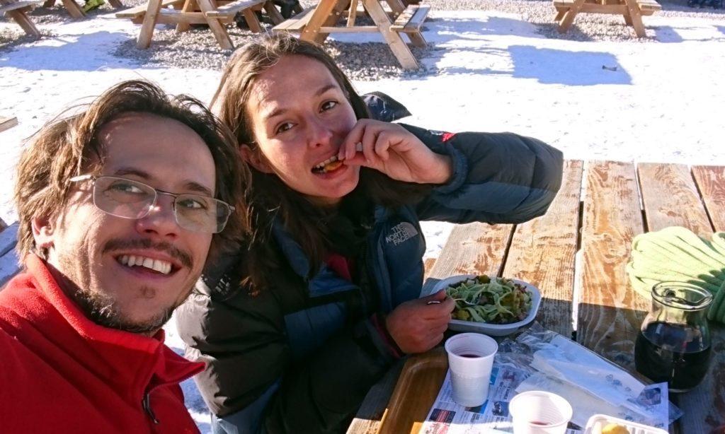 siamo arrivati al Rifugio Lecco giusti giusti per l'ora di pranzo (strano eh...)