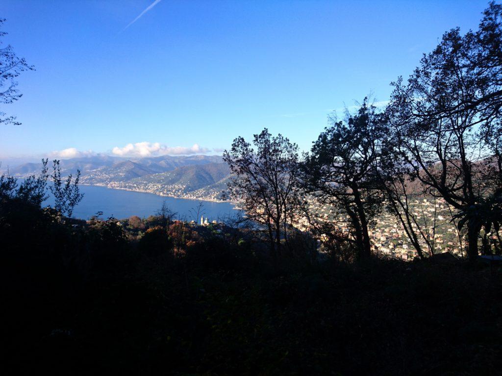 vista dal sentiero che da Semaforo Vecchio riconduce a San Rocco