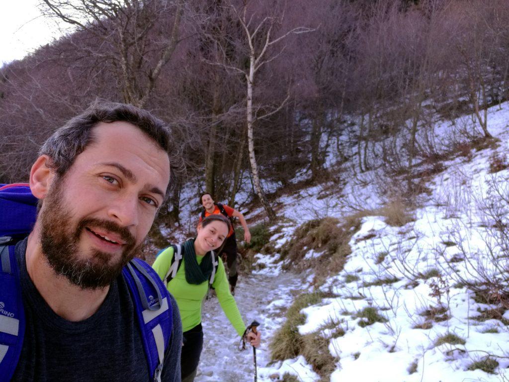 selfie su sentiero ghiacciato!