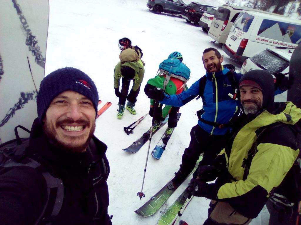 La snowgang riunita e pronta a partire!!