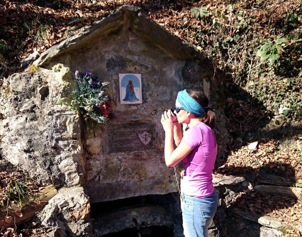 La fonte di Sambrosera a quota 700 m circa
