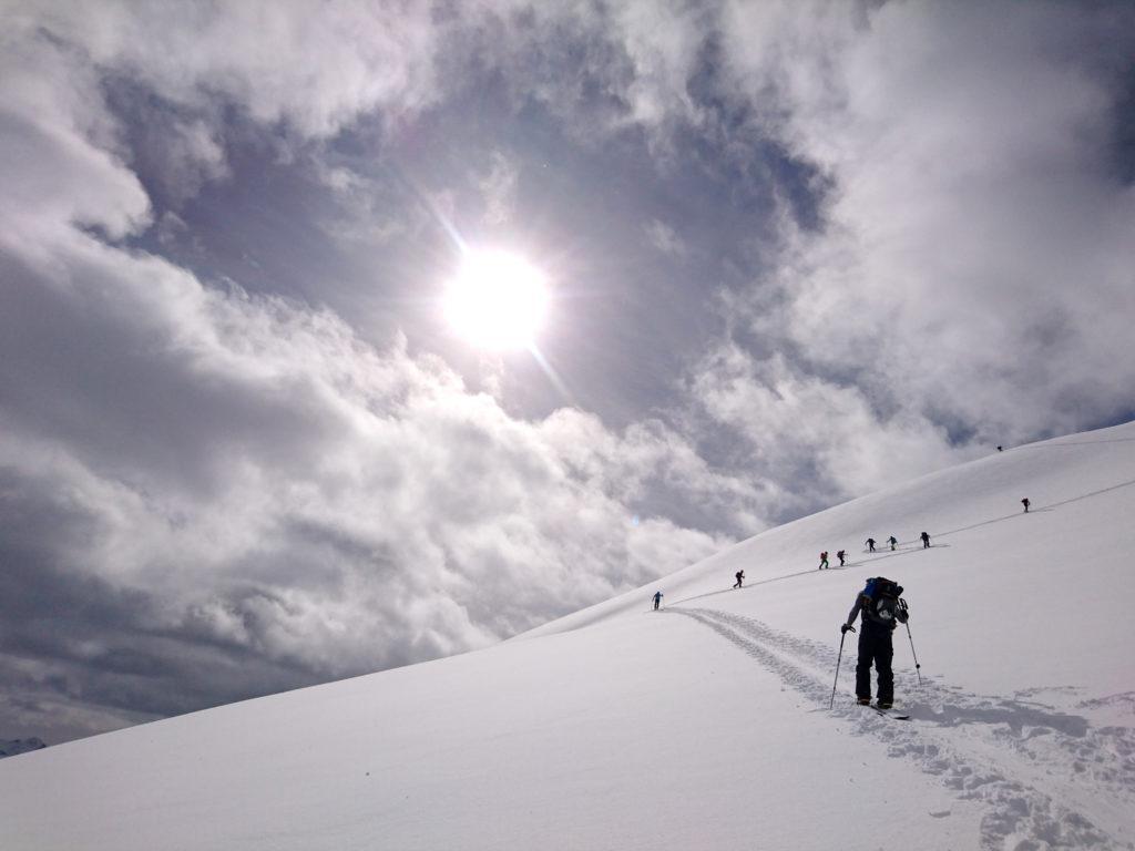 Nonostante qualche nuvola, oggi il sole ci darà una bella cottura ;)
