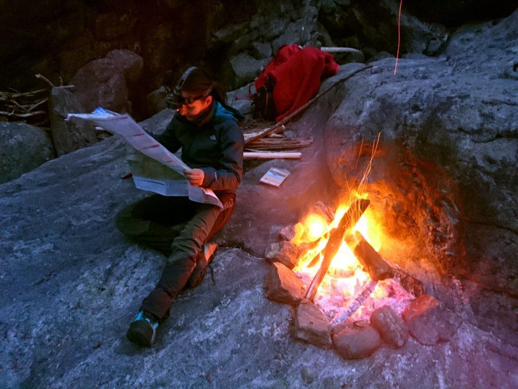 domani ci aspetta la parte di sentiero mai percorsa da nessuno dei due: meglio studiarcela bene!