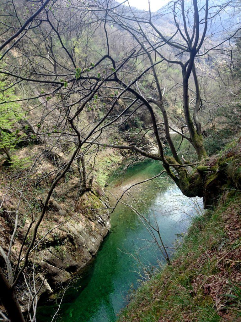 la bellezza del Rio Valgrande, con la sua acqua verde e azzurra