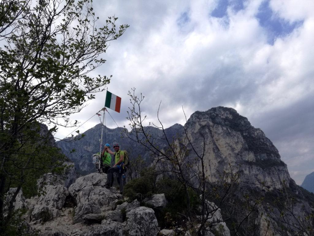 Io e Paolino sulla cima Capi!