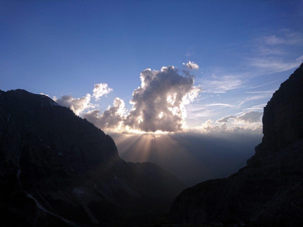 Giochi di nuvole al tramonto