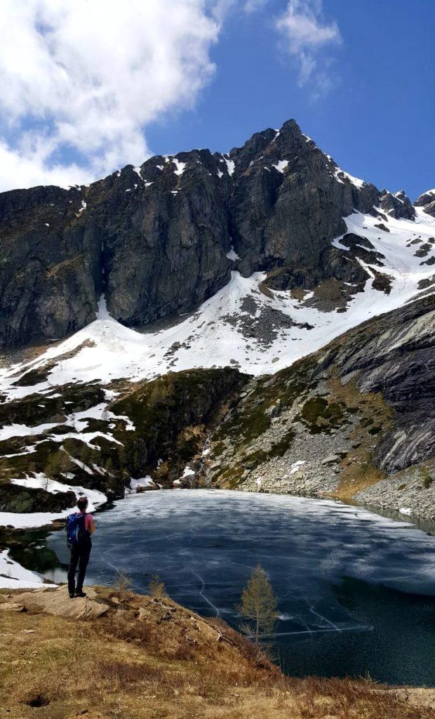 ... mentre gli amici raggiungono il Lago Inferiore di Paione