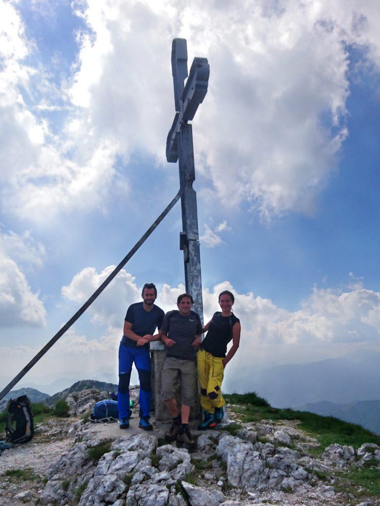 foto di gruppo sulla Cima Croce