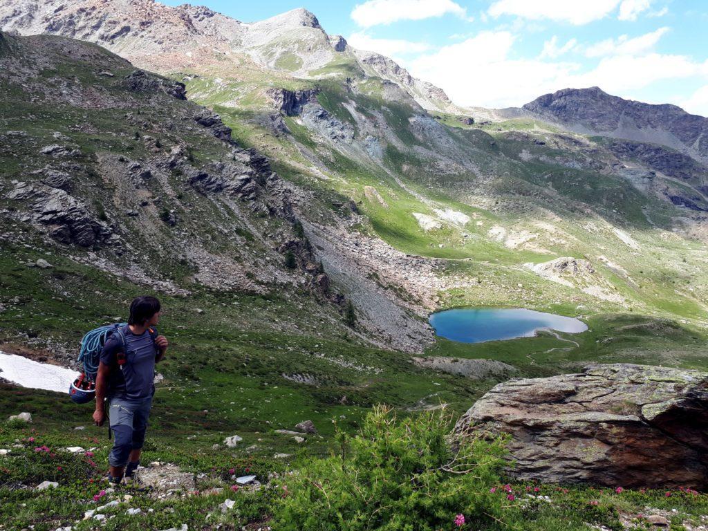 il bel laghetto alpino sull'altopiano del Bec Raty