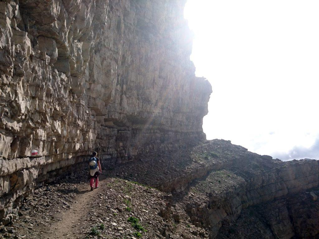 dallo Stoppani si segue il sentiero per la Ferrata Fratelli Vidi