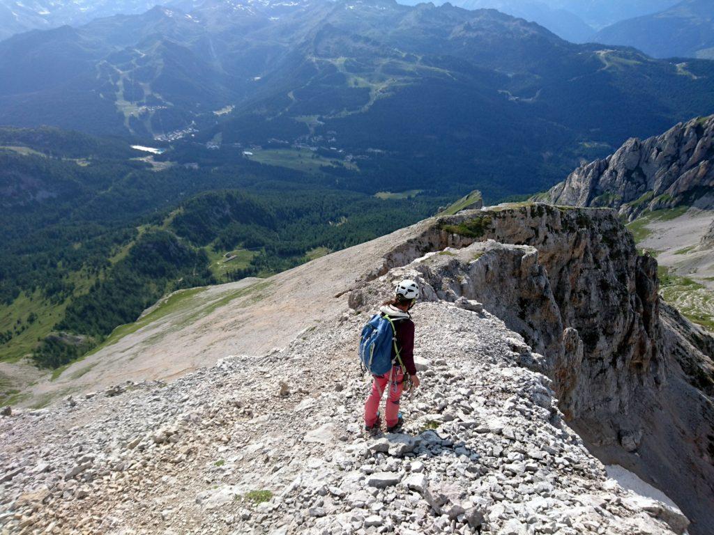 per scendere si segue la cresta della Cima Vagliana (qualche ometto) verso est-nord est