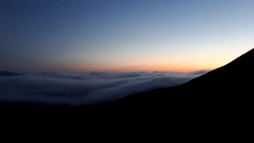 tramonto su Daisetsuzan