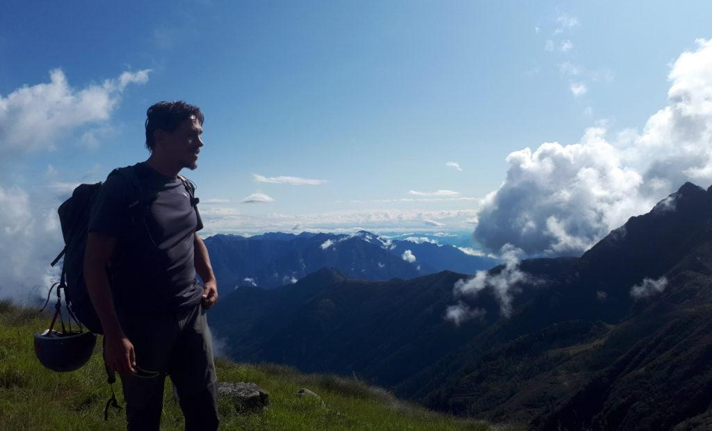 uno sguardo verso la Valle Anzasca