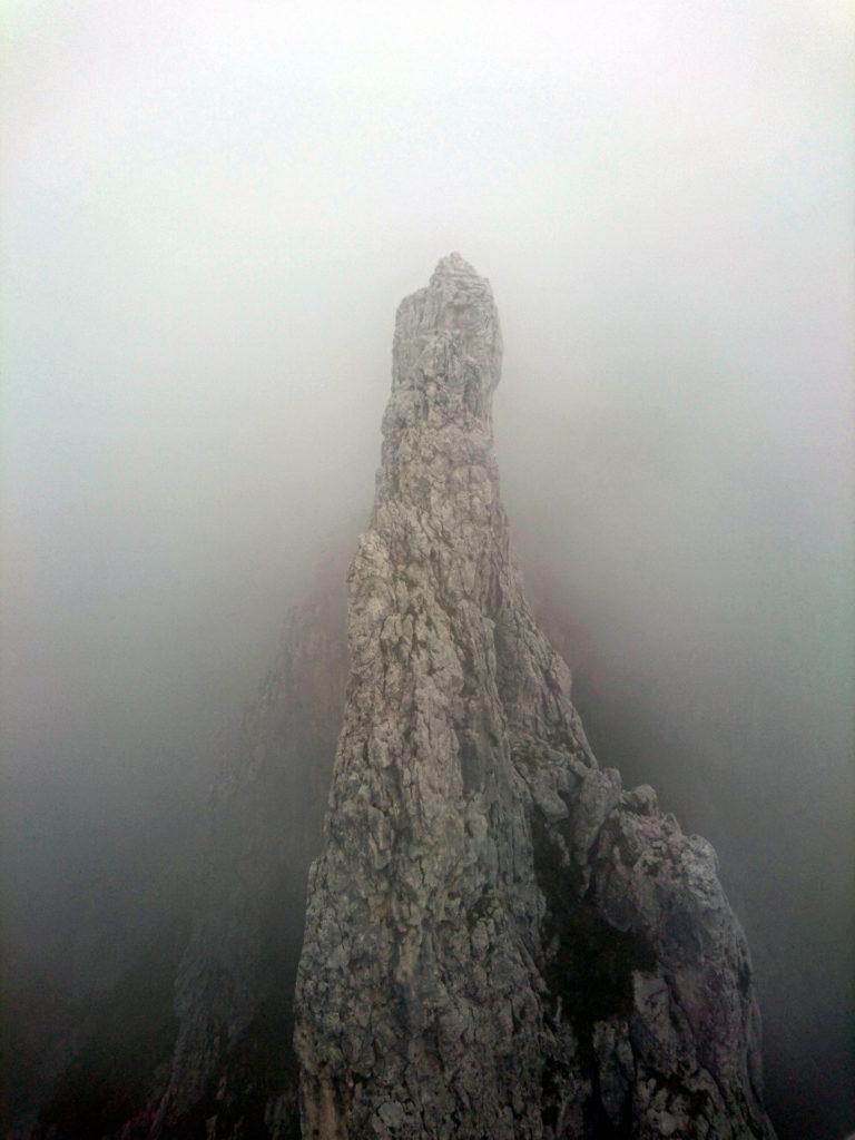 Il Campaniletto visto di fronte a noi, dalla cima della Lancia