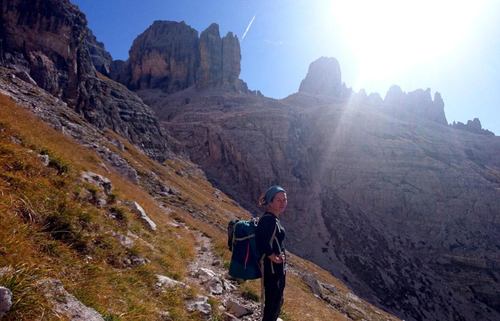 manca poco per raggiungere il bivio Alimonta-Brentei