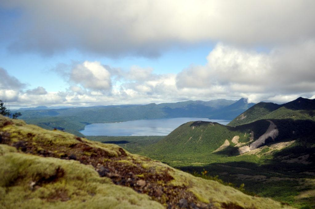 vista del lago Shikotsu