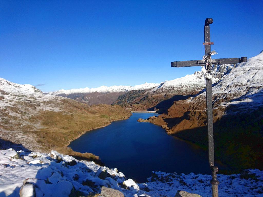 vista del lago dal Passo Laghi Gemelli