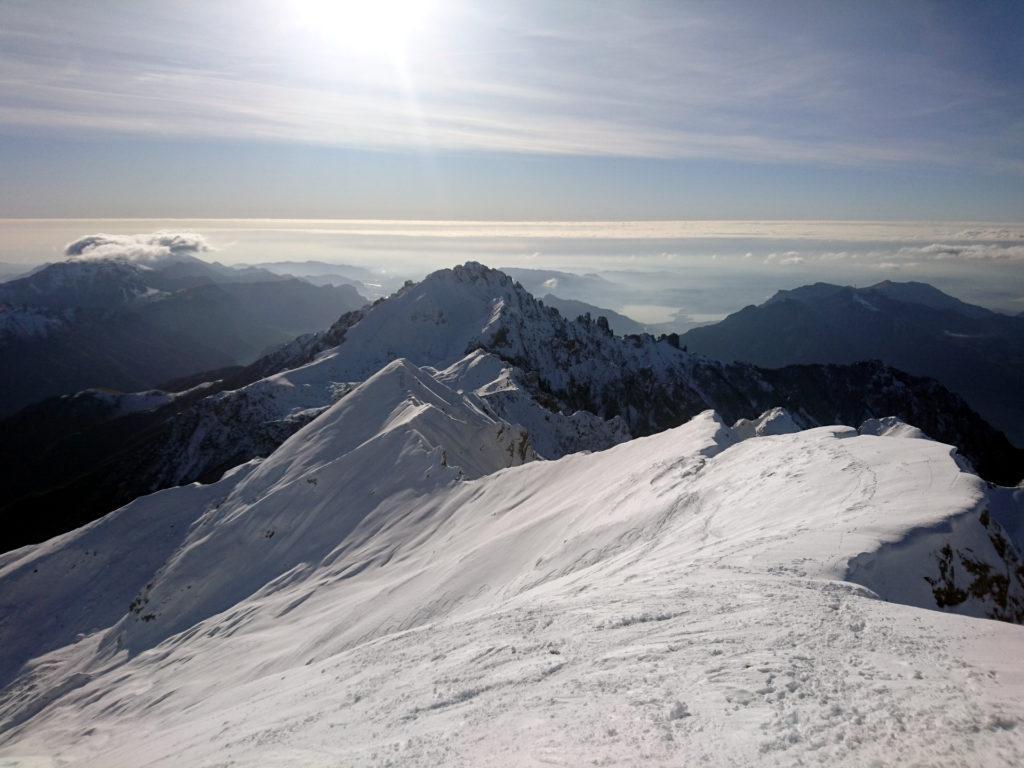 la cresta che conduce alla Grigna meridionale