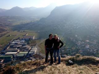 soddisfatti sulla cima della Rocca di Baiedo!