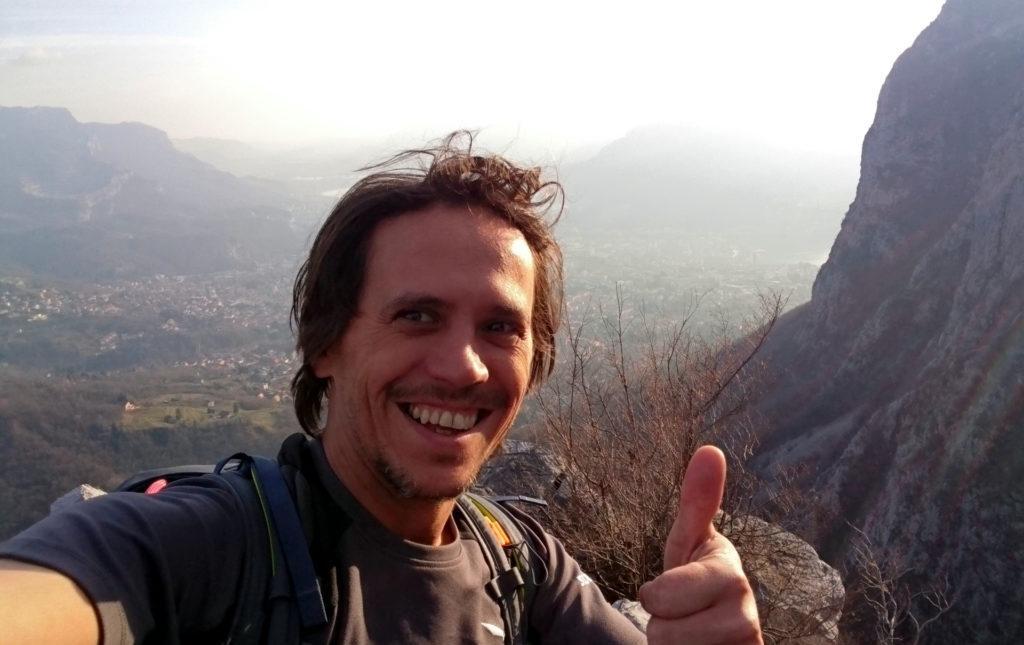 selfie di Gabri, bello contento dopo questa vietta