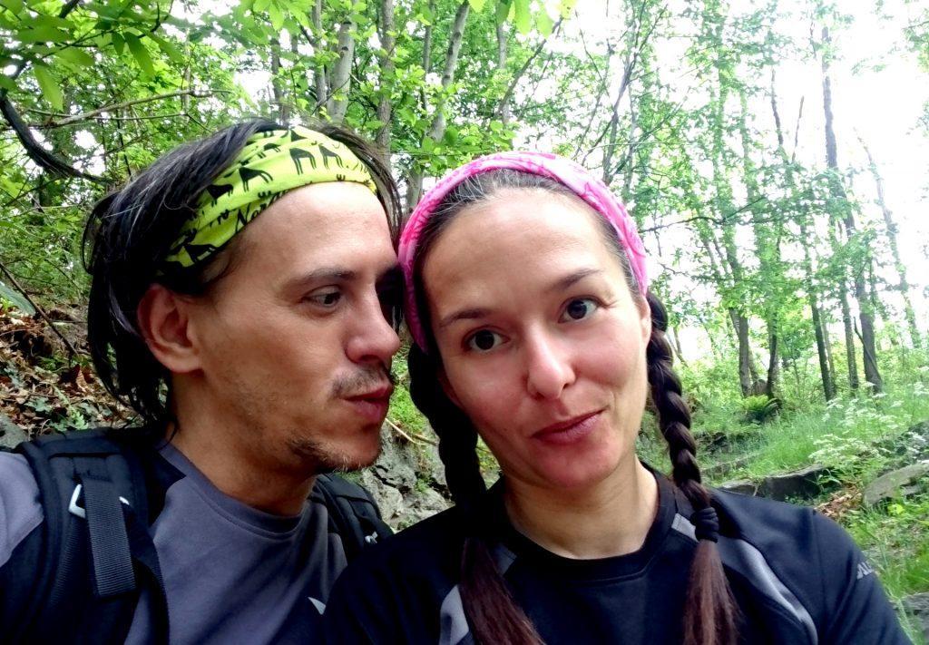 Ultimo selfie nel bosco prima di tornare alla civiltà