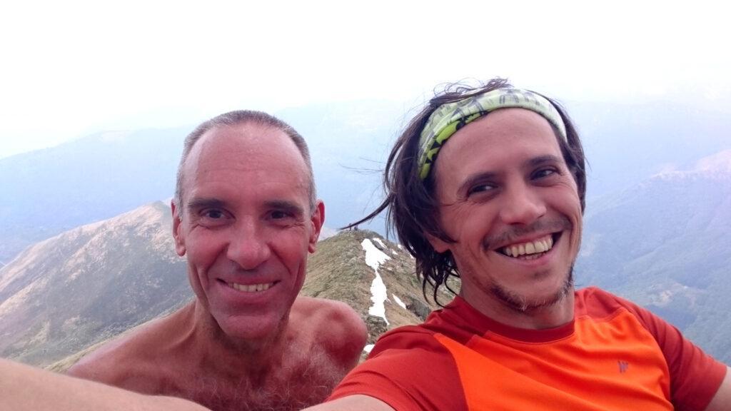 Selfie con Giorgio nel punto dove ci siamo fermati, a circa 2000 mt