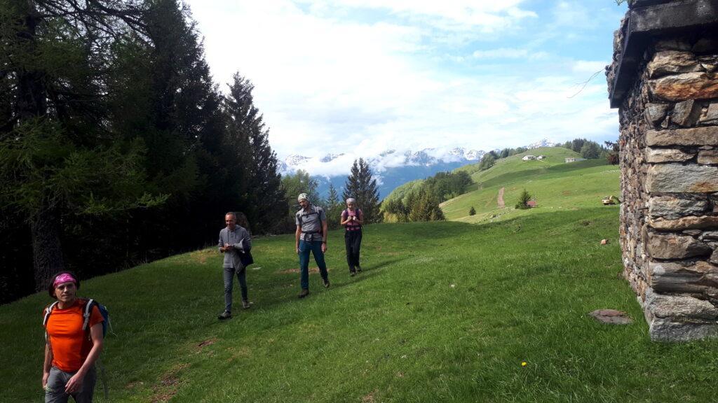 Proseguiamo in direzione del rifugio dell'Alpe Granda