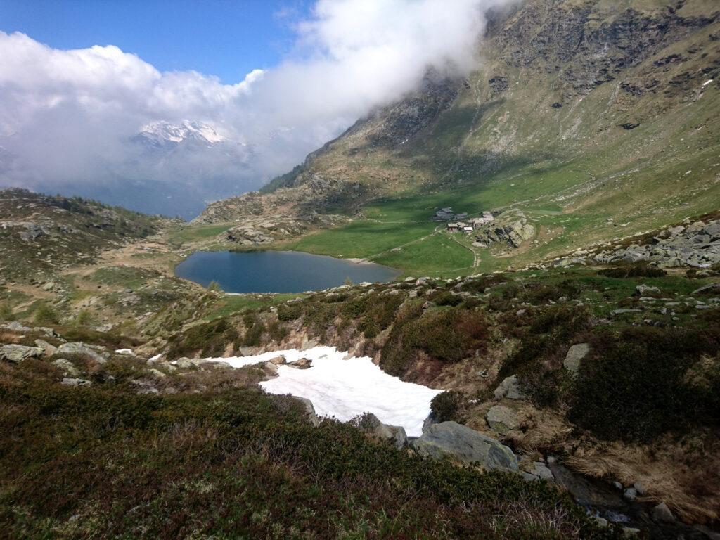 L'Alpe Angeloga vista dall'alto