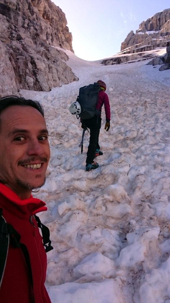 selfie nella parte centrale della Bocca di Tuckett