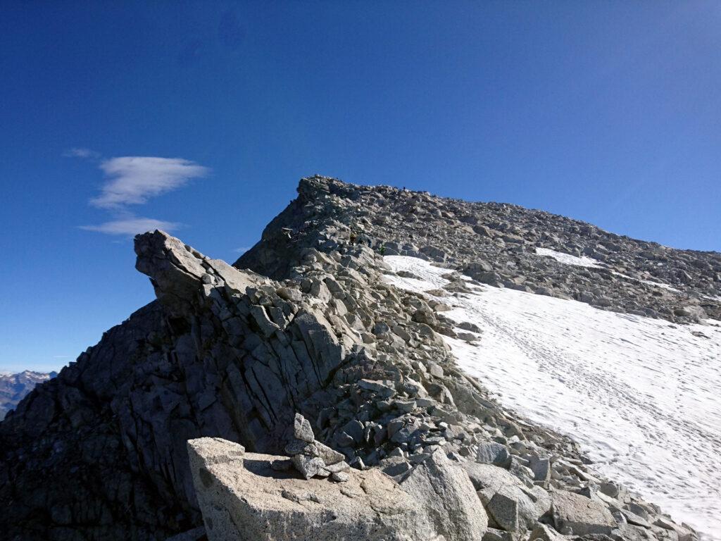 la cresta sud ovest dell'Adamello